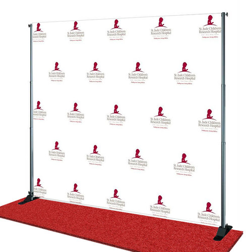St Jude's Children's Hospital Charitable Giving  Step and Repeat Banner from StickersBanners